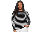 LAUREN Ralph Lauren LAUREN Ralph Lauren Plus Size Striped Button-Shoulder Top