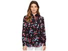 LAUREN Ralph Lauren LAUREN Ralph Lauren Floral Crinkled Silk-Blend Blouse