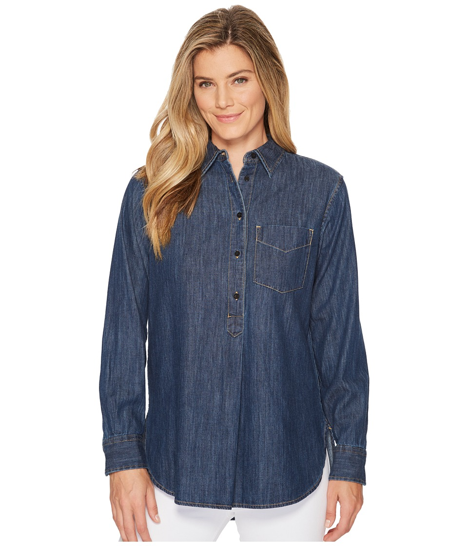 Ralph Lauren Long Sleeve Denim Shirt (Mineral Blue Wash) ...