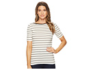 LAUREN Ralph Lauren LAUREN Ralph Lauren Striped Cotton Boat Neck Top