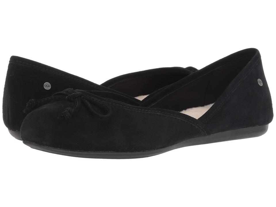 UGG Lena Flat (Black) Flats