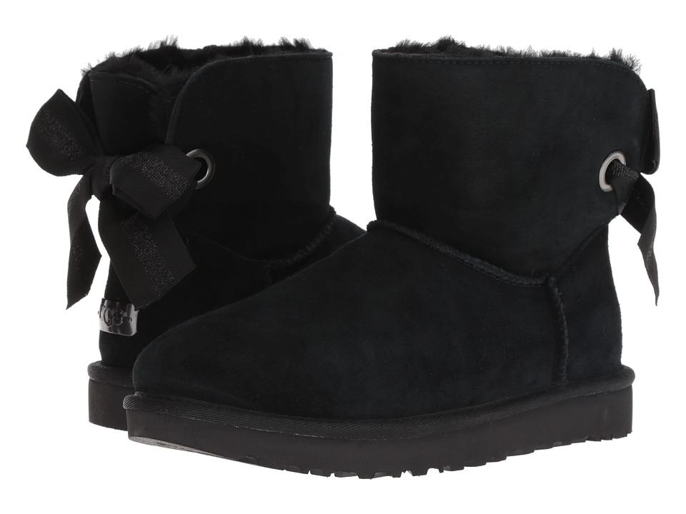 UGG Customizable Bailey Bow Mini (Black) Women's Pull-on Boots