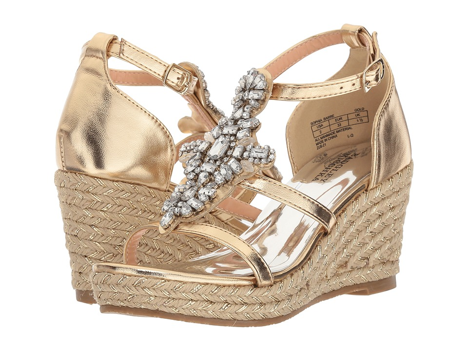Badgley Mischka Kids - Sophia Barre (Little Kid/Big Kid) (Gold) Girls Shoes