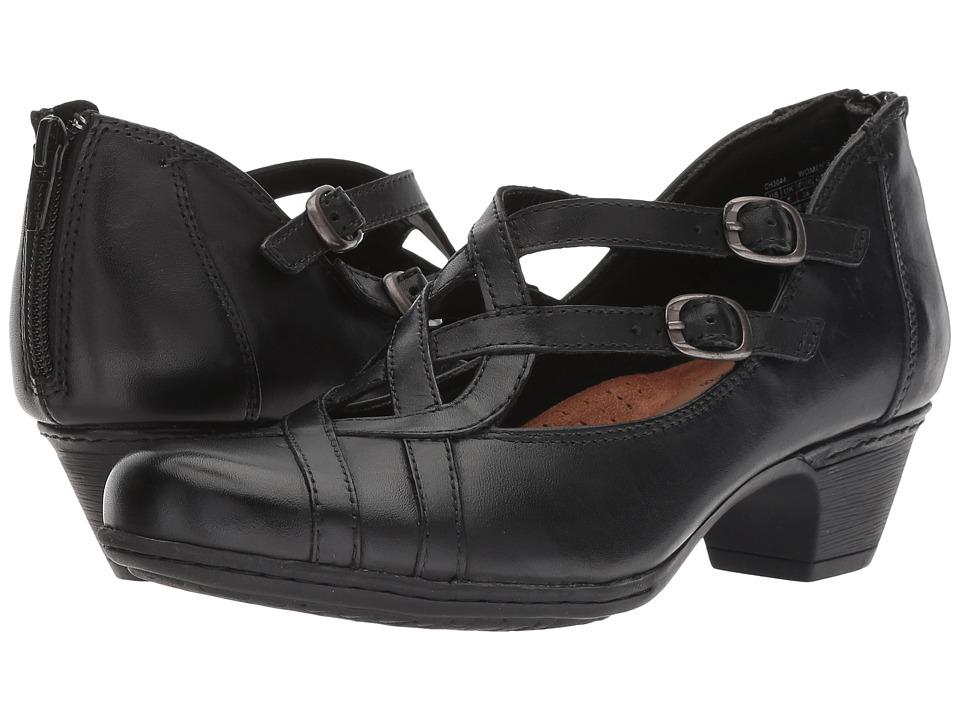 Rockport Cobb Hill Collection Cobb Hill Abbott Curvy Shoe (Black Leather) Women's Shoes