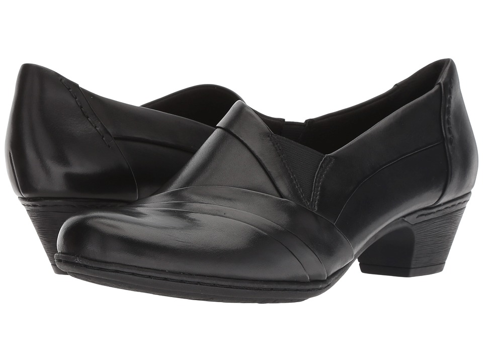 Rockport Cobb Hill Collection Cobb Hill Abbott Slip-On (Black Leather) Women's Shoes