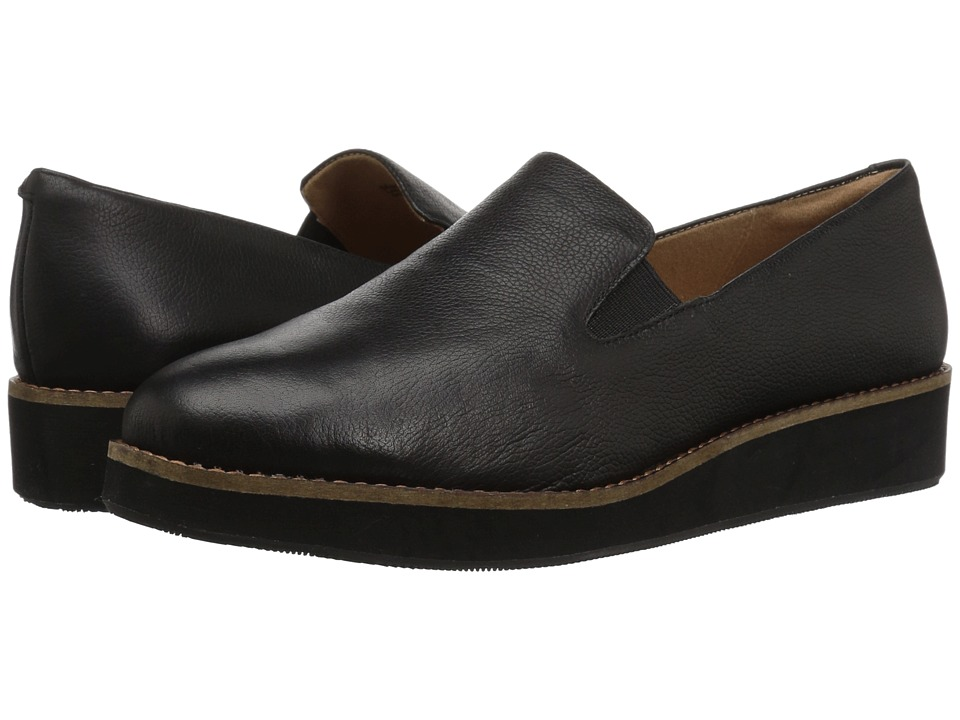 SoftWalk Whistle (Black) Slip-On Shoes