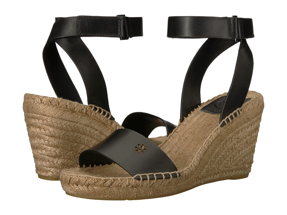 Tory Burch Bima 2 90mm Wedge Espadrille (Perfect Black) Women's Shoes