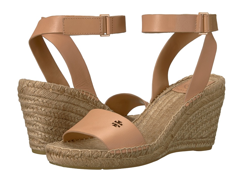 Tory Burch Bima 2 90mm Wedge Espadrille (Natural Vachetta) Women's Shoes