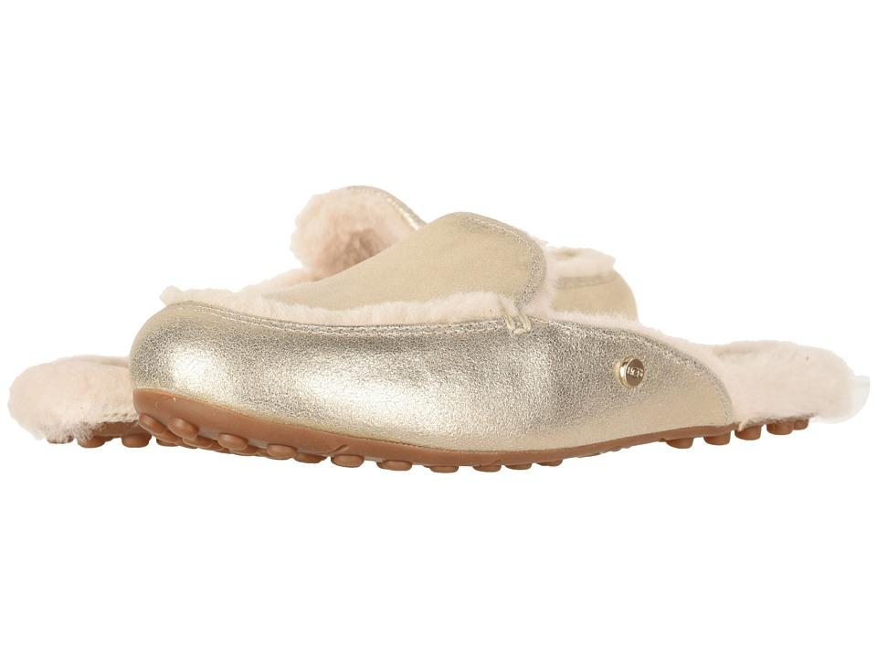 UGG Lane Metallic (Platinum Gold) Slip-On Shoes