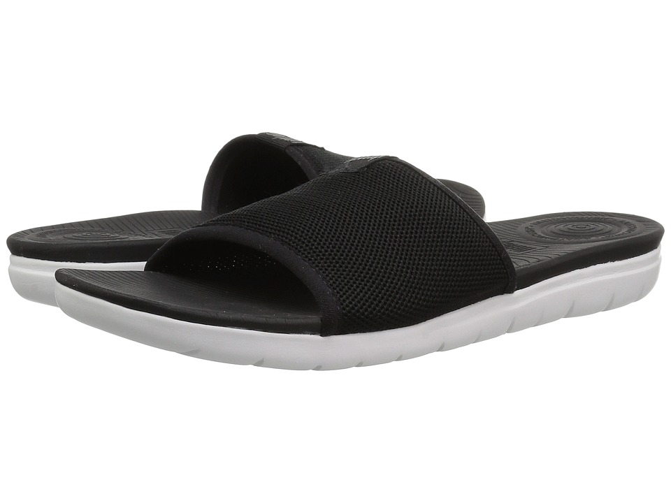 FitFlop - Uberknit Slide Sandals (Black) Womens  Shoes