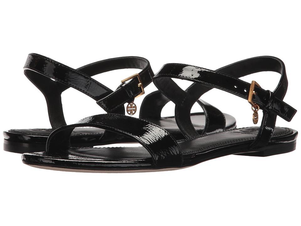 Tory Burch - Laurel Flat Sandal (Black) Women's Sandals