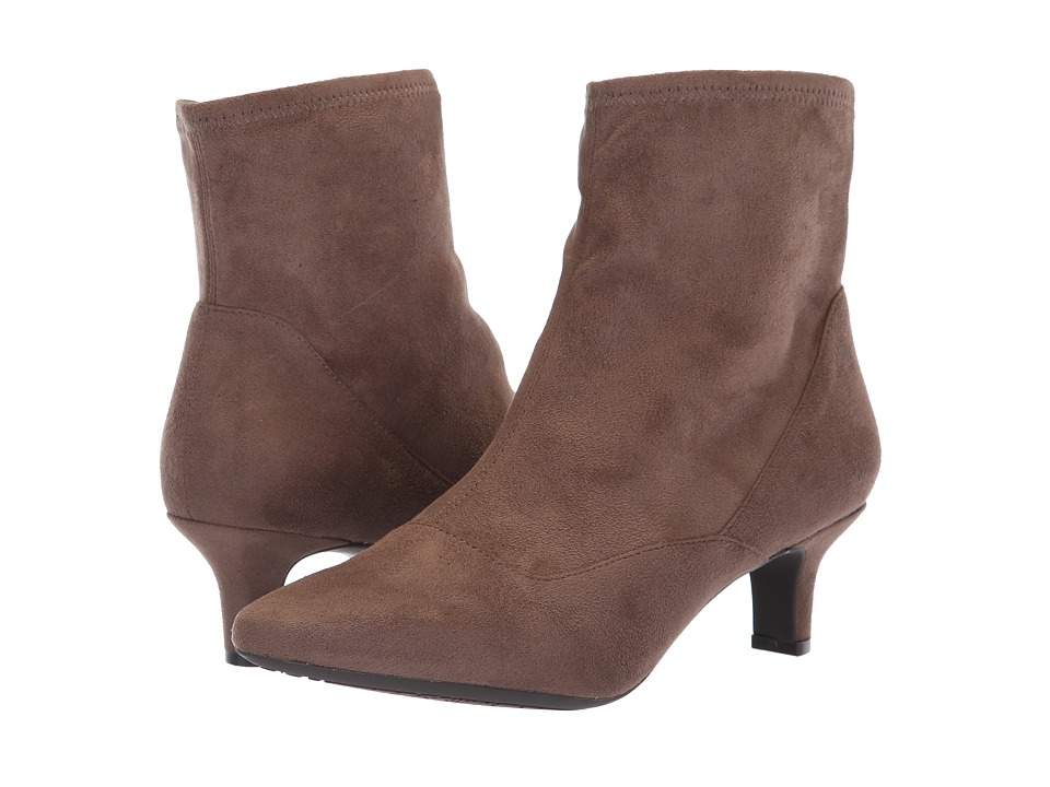 Rockport Kimly Stretch Bootie (Dark Taupe Microsuede) Women's Shoes
