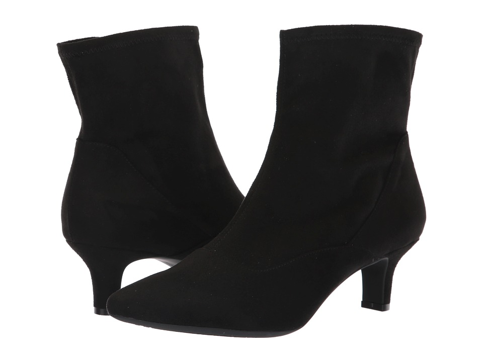 Rockport Kimly Stretch Bootie (Black Microsuede) Women's Shoes