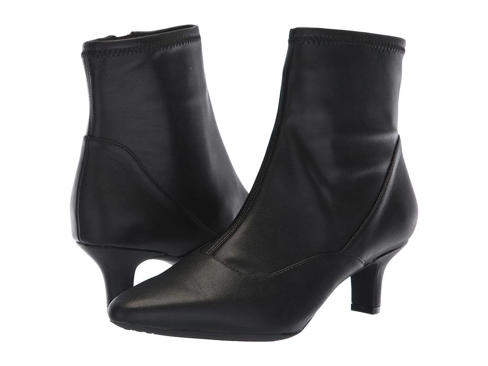 Rockport Kimly Stretch Bootie (Black Stretch) Women's Shoes