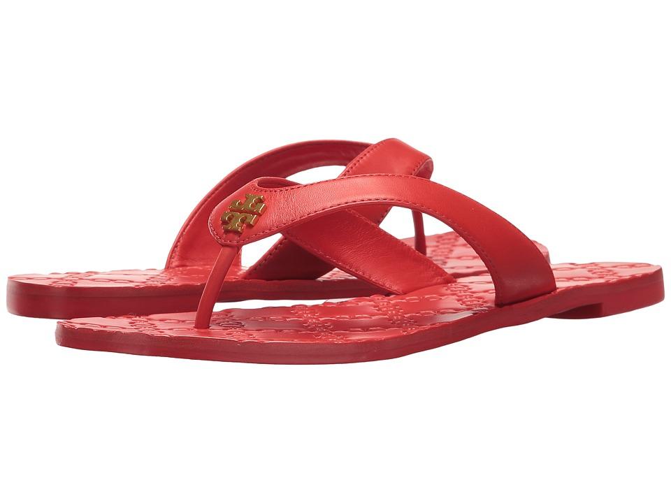 Tory Burch Monroe Thong Sandal (Exotic Red) Women