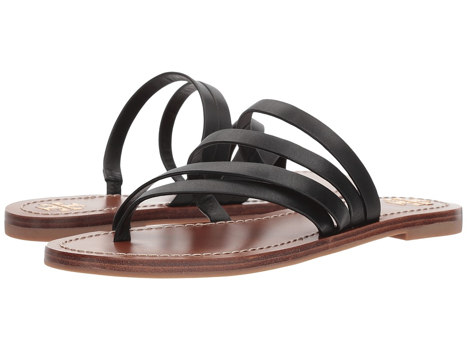 Tory Burch - Patos Flat Sandal (Perfect Black) Women's Sandals