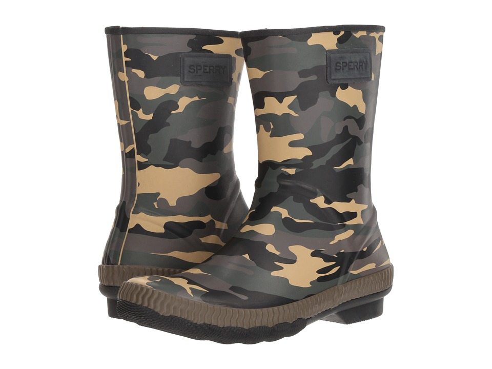 Sperry Saltwater Current (Olive Multi Camo) Women's Rain Boots