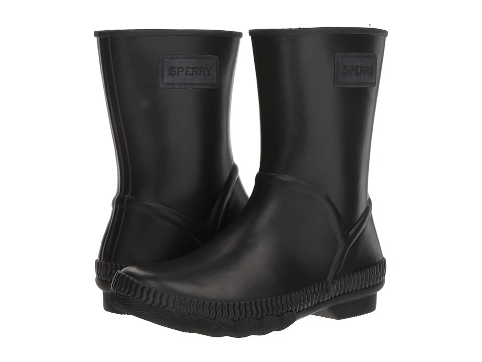Sperry Saltwater Current (Black) Women's Rain Boots