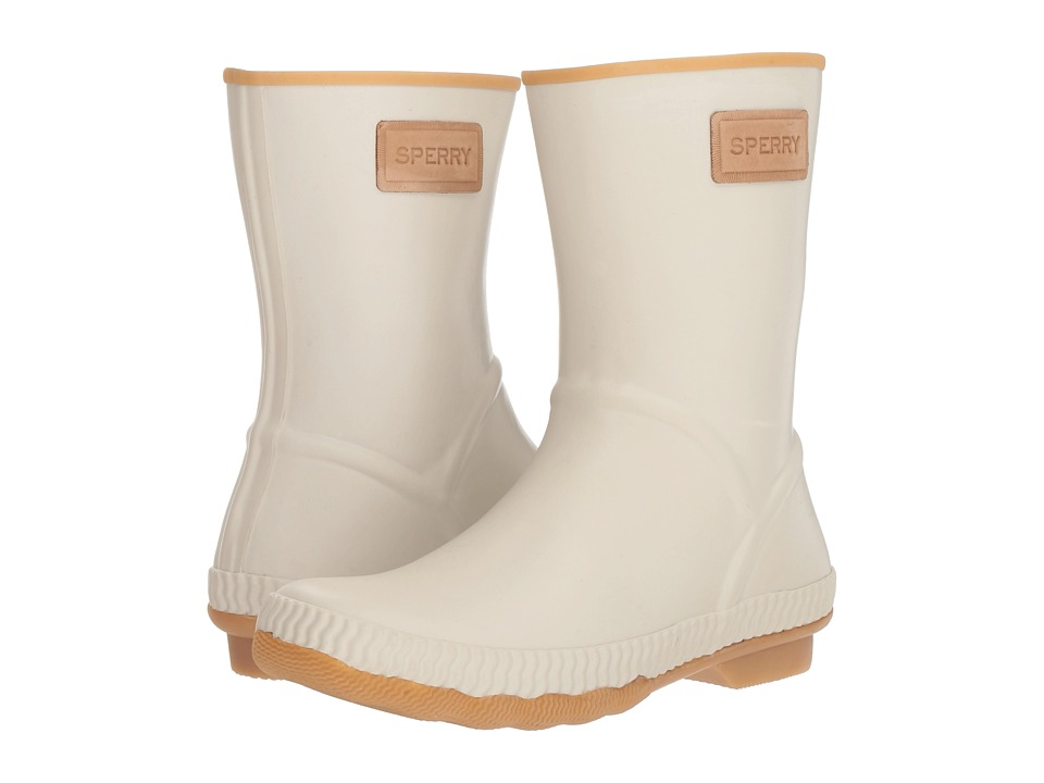 Sperry Saltwater Current (Off-White) Women's Rain Boots