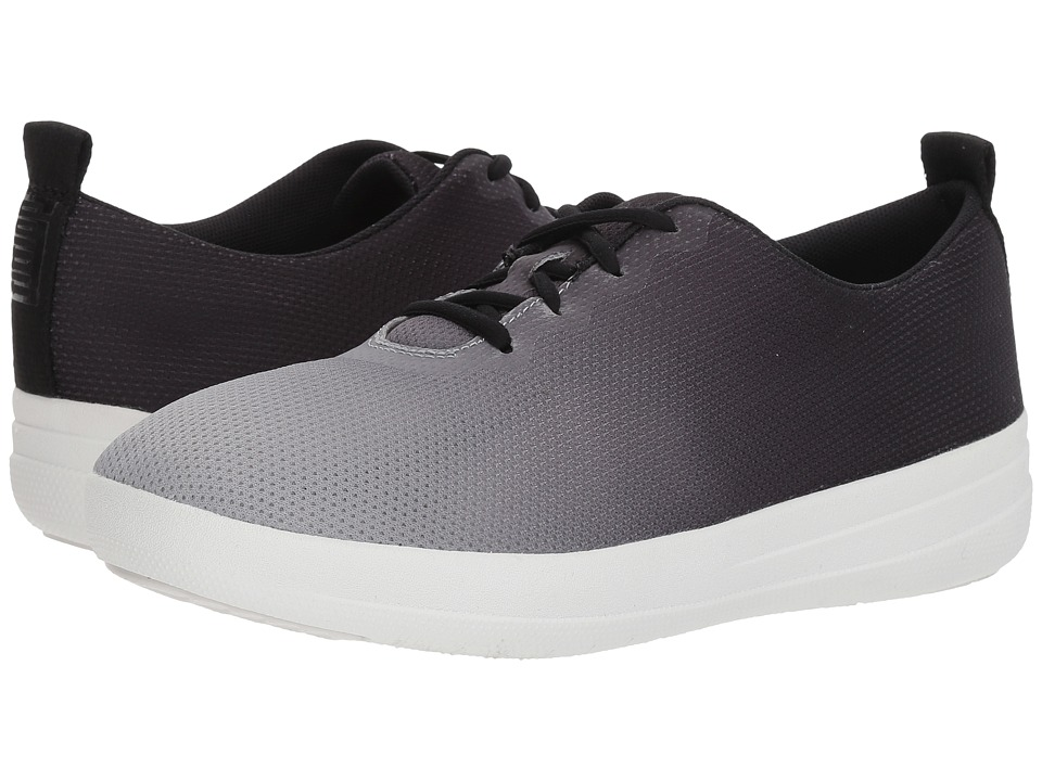 FitFlop - Neoflex Slip-On Sneakers (Black/Soft Grey) Womens  Shoes