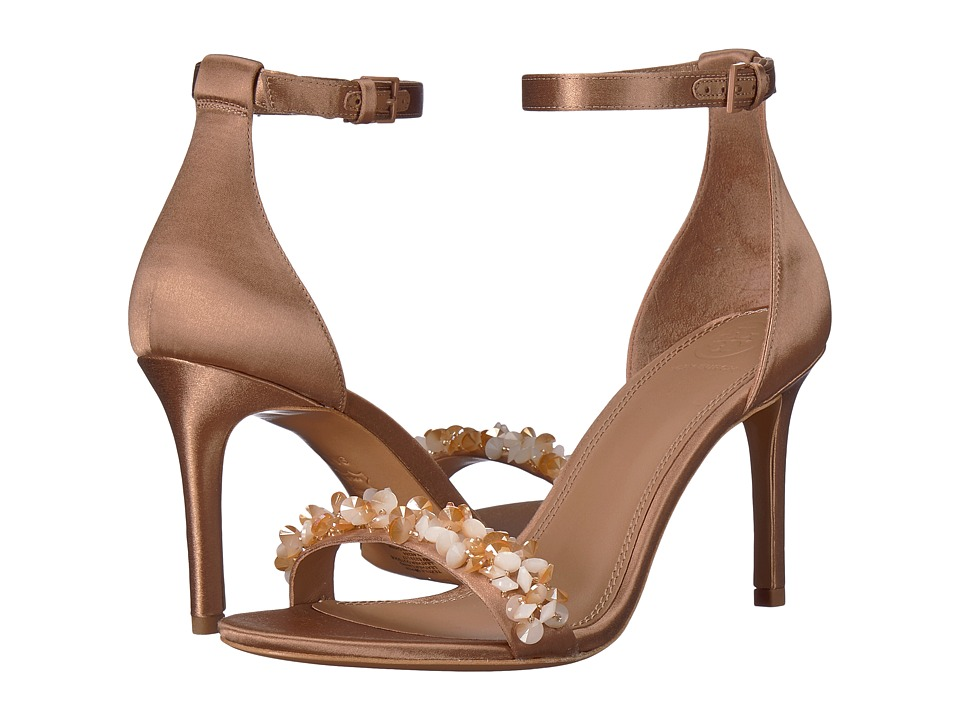 Tory Burch Logan 85mm Sandal (Rose/Natural Vachetta) Women