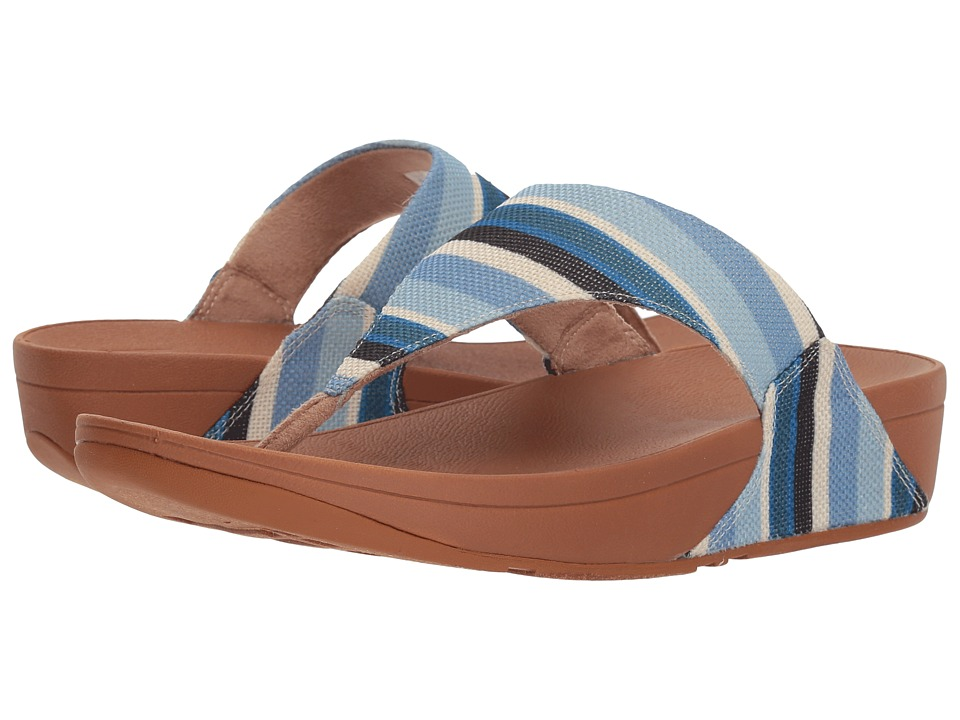 FitFlop - Lulu Toe Thong Sandals (Blue Stripey) Womens  Shoes