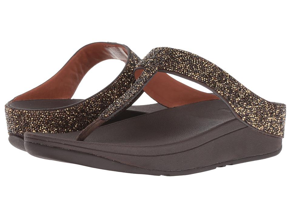 FitFlop Fino Quartz Toe Thong Sandals (Gold) Women's Shoes