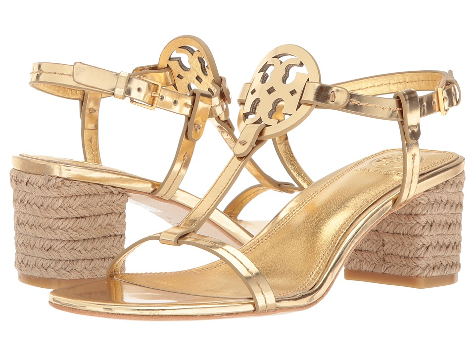 Tory Burch Miller 65mm Espadrille Sandal (Gold) Sandals