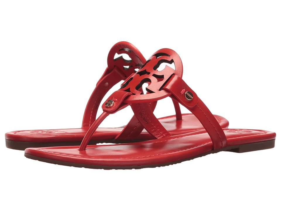 Tory Burch Miller Flip Flop Sandal (Poppy Orange) Women's Shoes