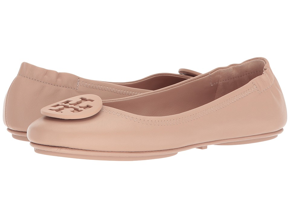 Tory Burch Minnie Travel Ballet Flat (Goan Sand) Women's Shoes