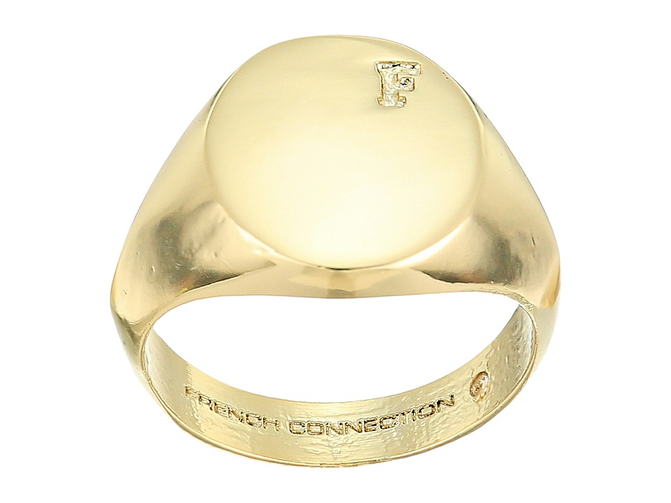 French Connection - Signet Ring (Gold) Ring