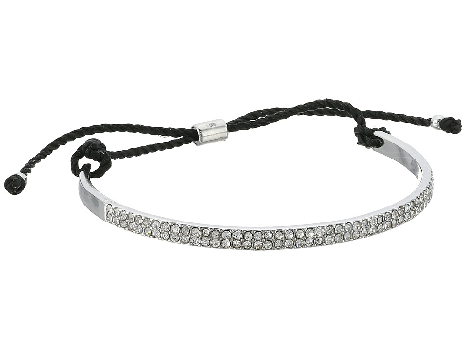 French Connection - Pave Cuff with Cord Bracelet (Crystal/Rhodium) Bracelet