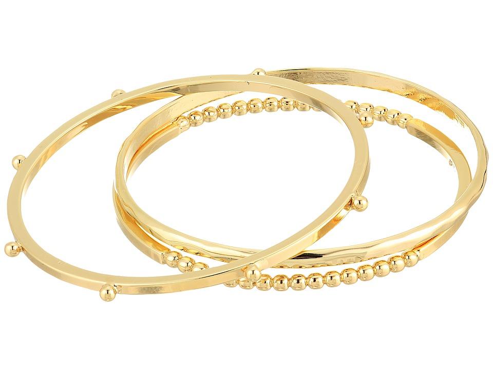 French Connection - Dots Bangle Bracelet Set (Gold) Bracelet