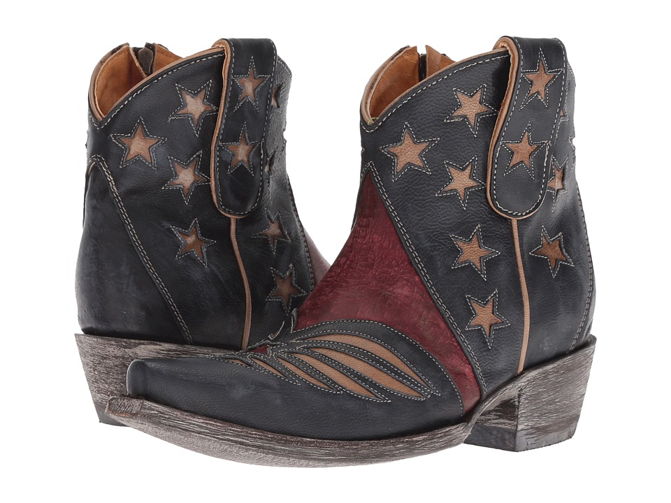 Old Gringo - United Short (Blue/Red) Cowboy Boots