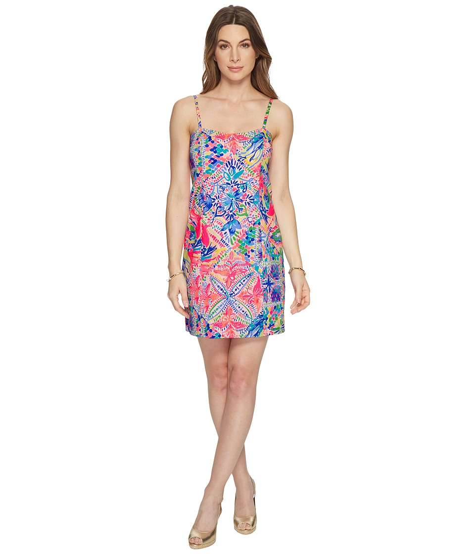 Lilly Pulitzer Shelli Stretch Shift (Multi Dancing on The...