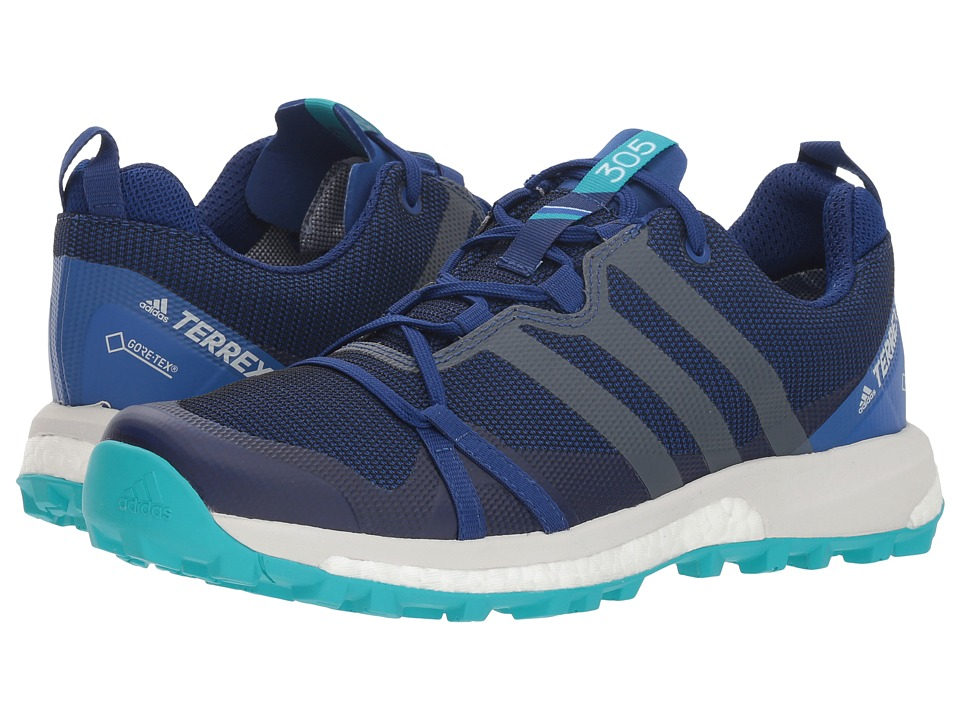 adidas Outdoor Terrex Agravic GTX (Mystery Ink/Grey One/Hi-Res Aqua) Women's Shoes