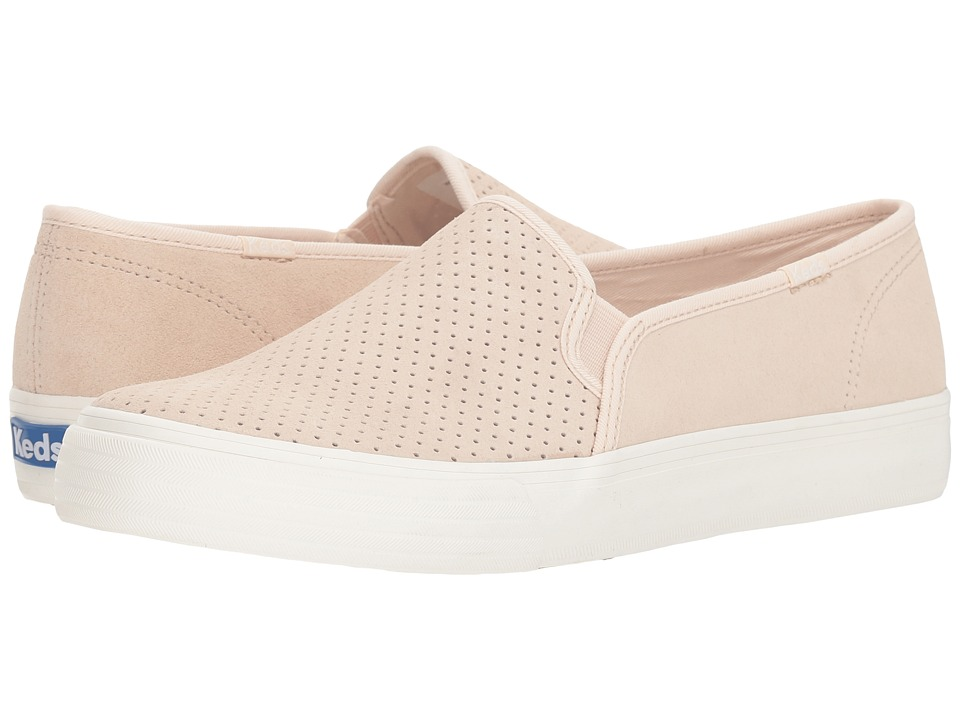 Keds Double Decker Perf Suede (Petal Pink) Slip-On Shoes