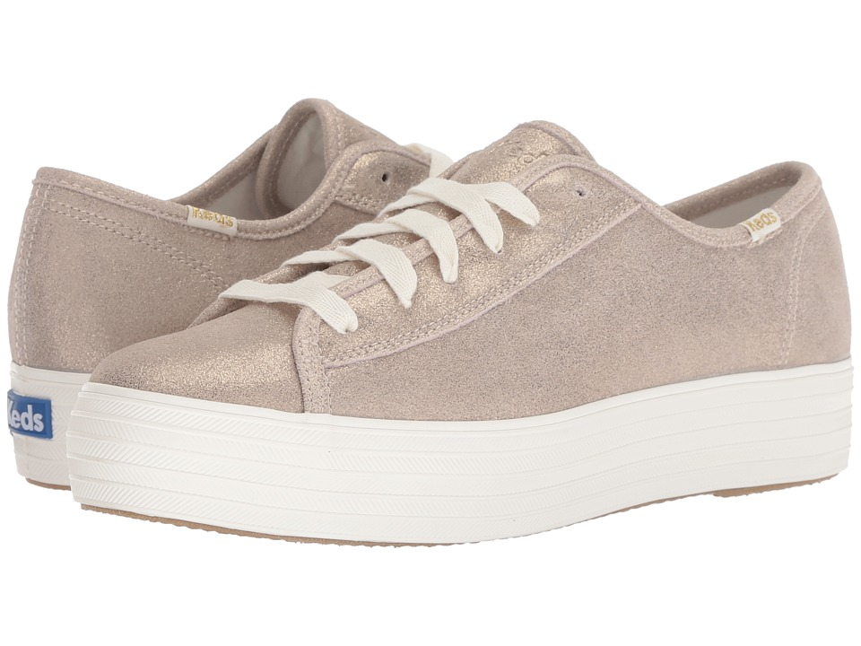 Keds Triple Kick Glitter Suede (Champagne)