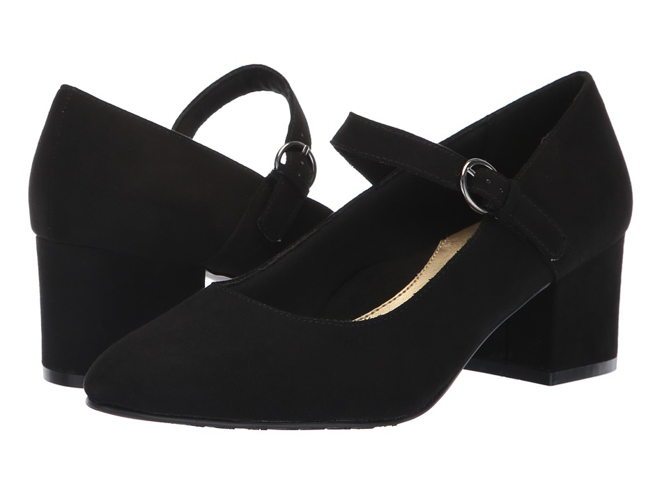 Soft Style Dustie (Black Faux Suede) 1-2 inch heel Shoes