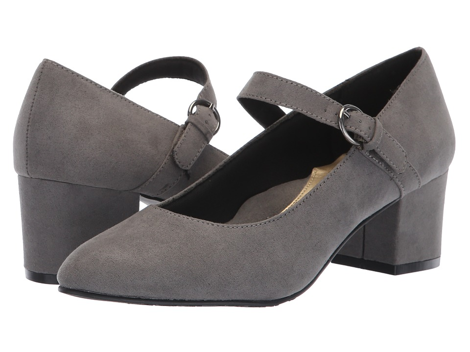 Soft Style Dustie (Dark Grey Faux Suede) 1-2 inch heel Shoes