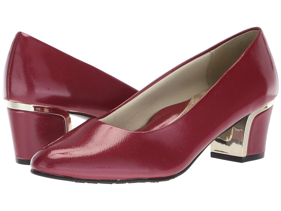 Soft Style Deanna (Tibetan Red Crosshatch Patent) 1-2 inch heel Shoes