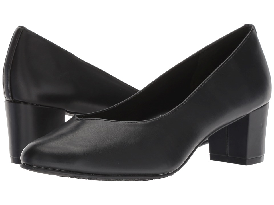 Soft Style Gracee (Black Vitello) 1-2 inch heel Shoes