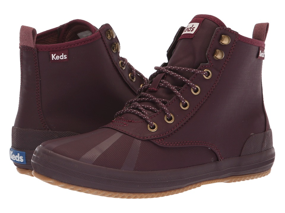 Keds Scout Boot Splash Twill Wax (Burgundy) Women's Lace-up Boots