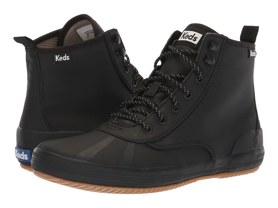 Keds Scout Boot Splash Twill Wax (Black) Women's Lace-up Boots