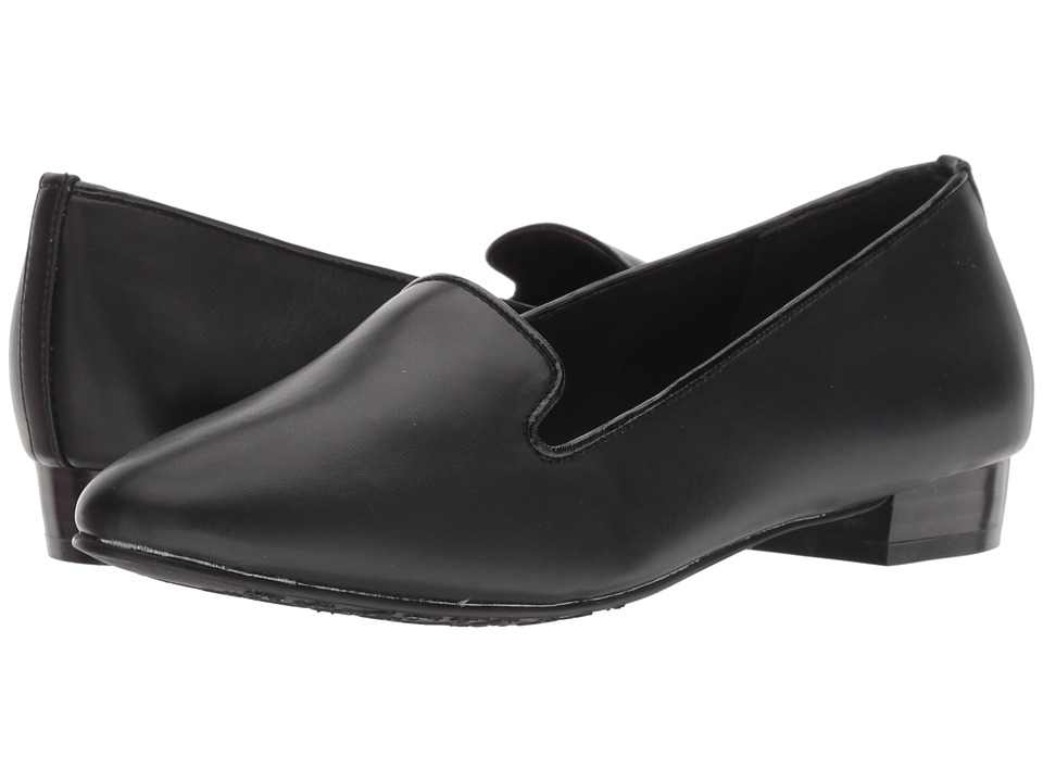 Soft Style Charmy (Black Vitello) Women's Dress Flat Shoes