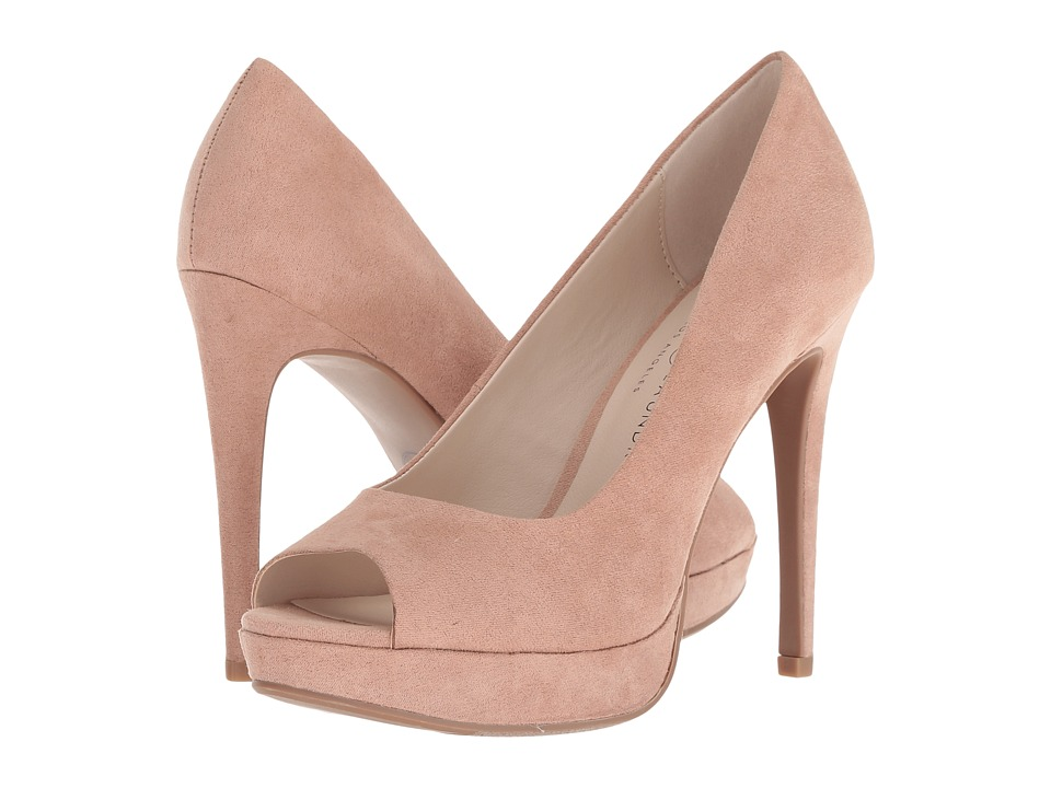 Chinese Laundry Holliston Zappos Exclusive (Dark Nude Microsuede) High Heels