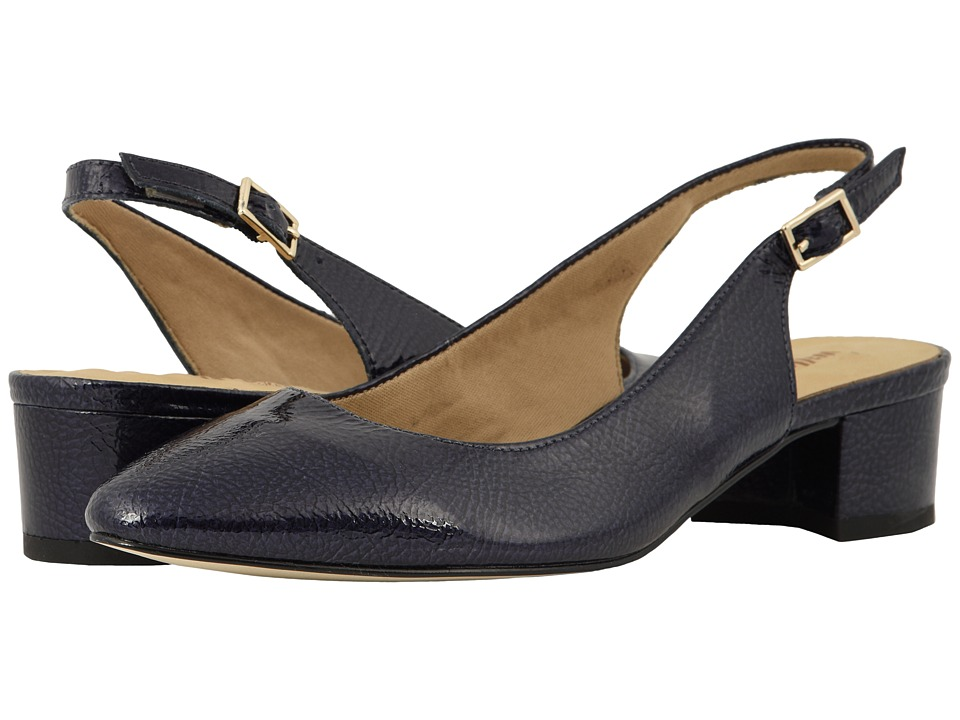 Walking Cradles Hazel (Navy Tumbled Patent) Women's Shoes