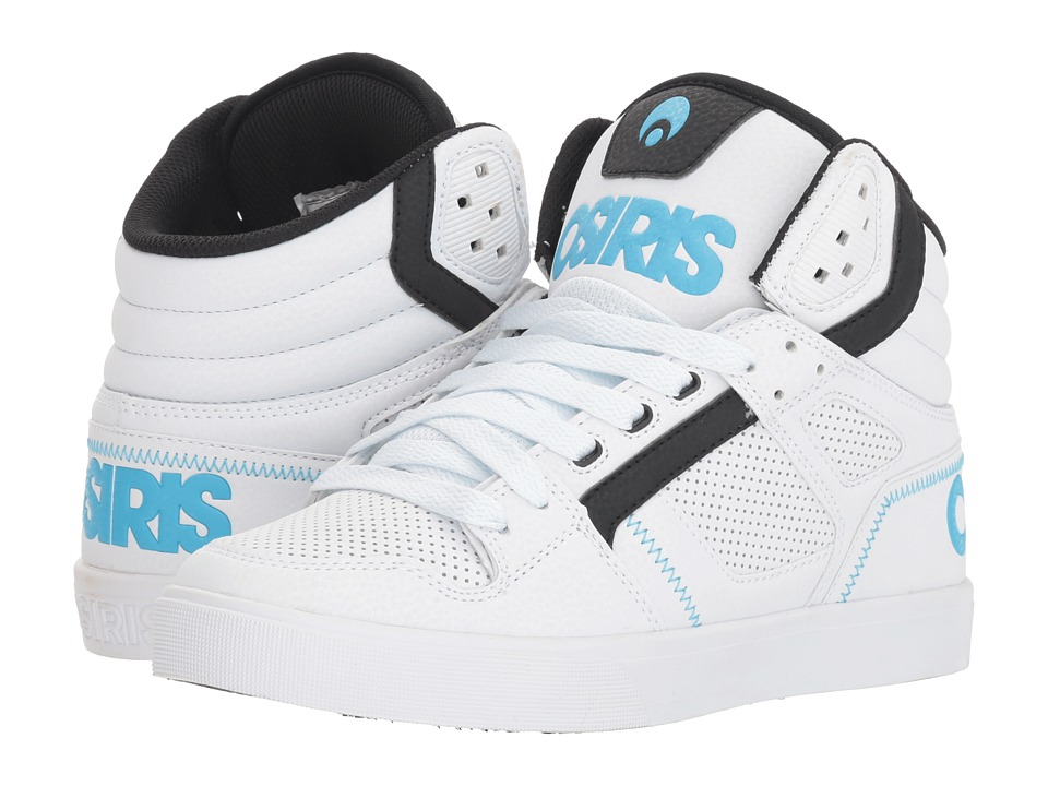 Osiris Clone (White/Black/Light Blue) Women's Skate Shoes
