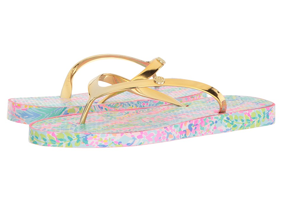 Lilly Pulitzer - Pool Flip-Flop (Multi Catch the Wave) Womens Sandals