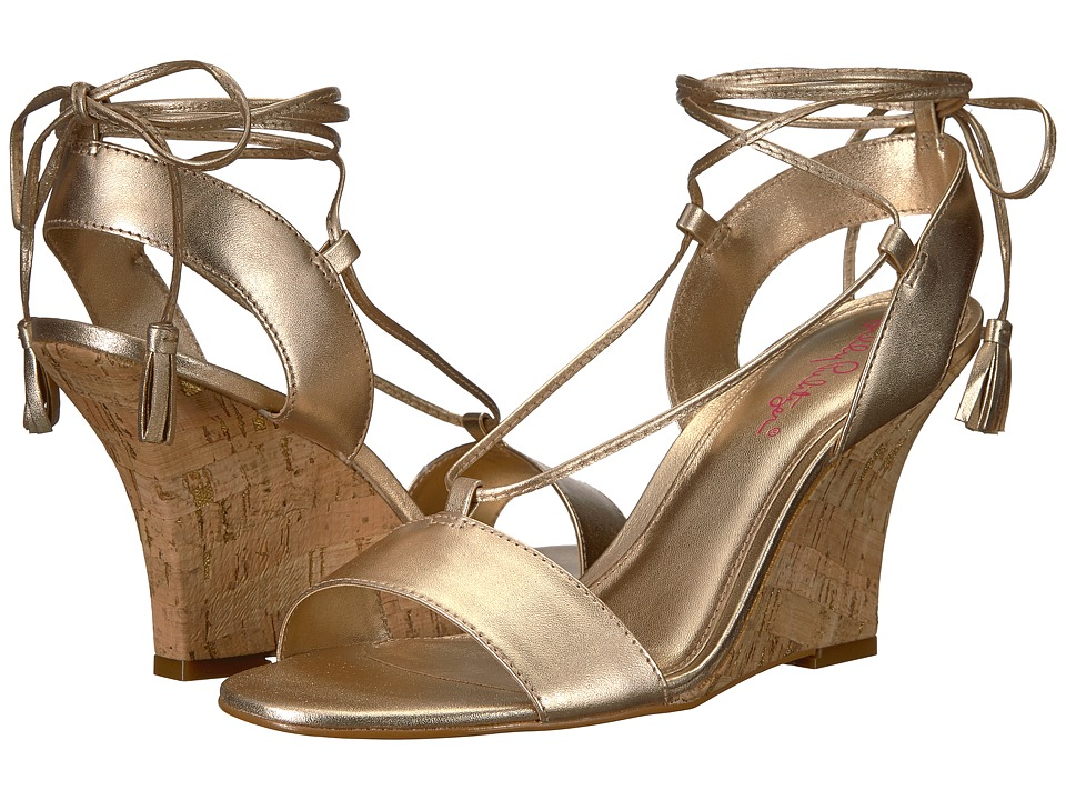 Lilly Pulitzer Aria Wedge (Gold Metallic) Wedges